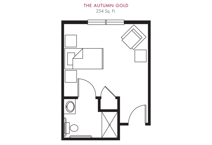 Cameron Hall of Ellijay Skilled Nursing Autumn Gold Floor Plan