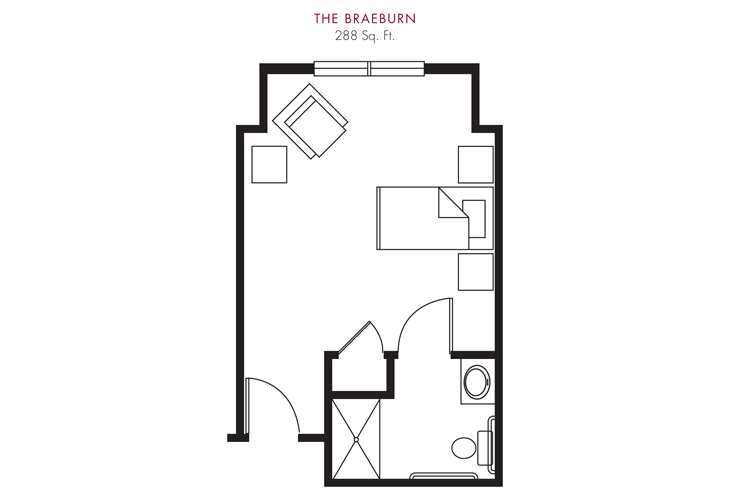 Cameron Hall of Ellijay Skilled Nursing Braeburn Floor Plan
