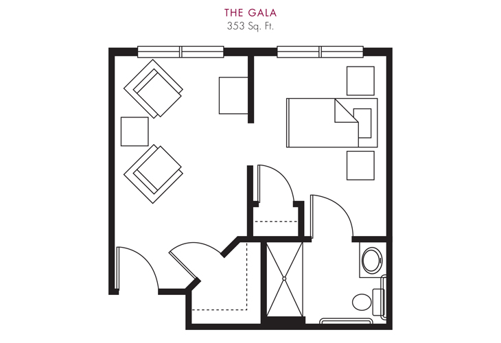 Cameron Hall of Ellijay Skilled Nursing Gala Floor Plan