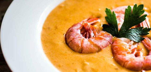 Coconut Shrimp and Plantain Bisque