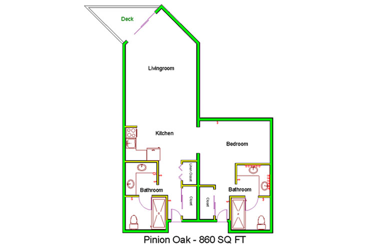 Granite Gate Assisted Living Pinion Oak - 1 Bedroom