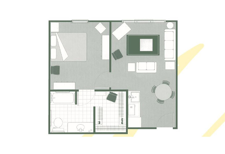 Morningside of Mayfield Assisted Living One Bedroom Deluxe Floor Plan