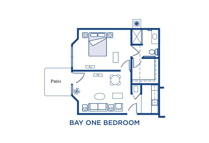 Morningside of Fayetteville Assisted Living Bay One Bedroom Floor Plan