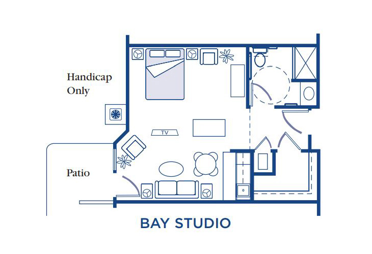 Morningside of Fayetteville Assisted Living Bay Studio Floor Plan