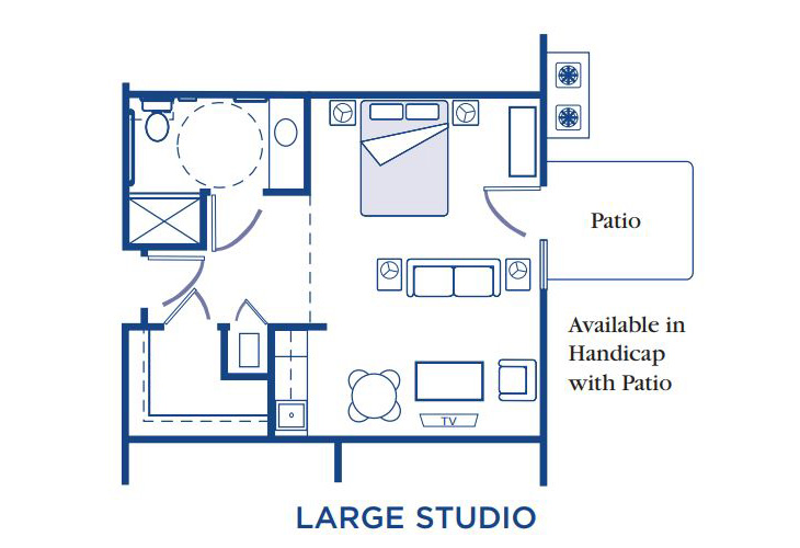 Morningside of Fayetteville Assisted Living Large Studio Floor Plan