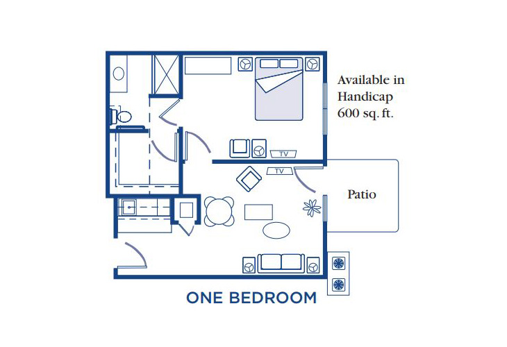 Morningside of Fayetteville Assisted Living One Bedroom Floor Plan