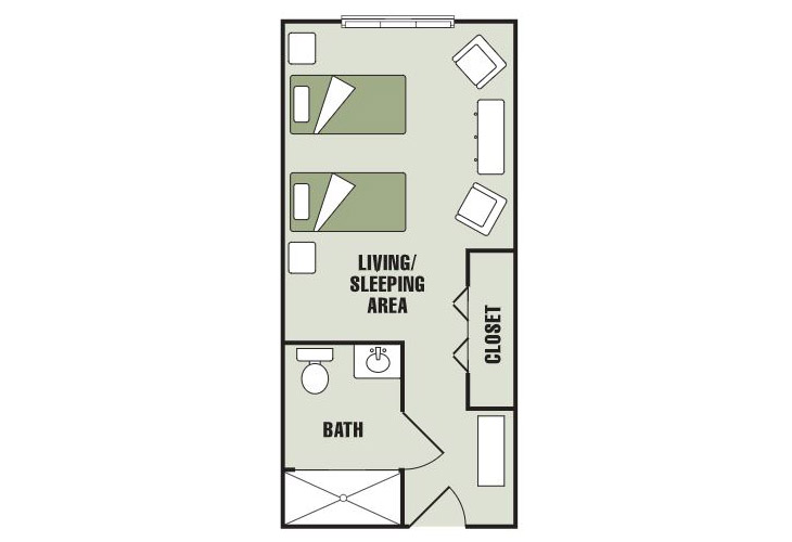 Morningside of Gastonia Assisted Living Companion Suite Floor Plan