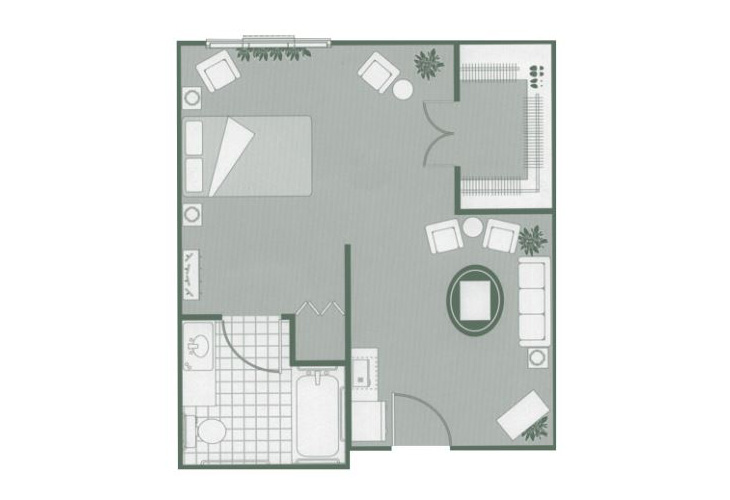 Morningside of Hartsville Assisted Living Alcove Floor Plan