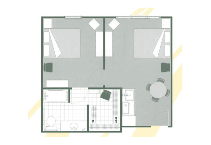 Morningside of Hartsville Assisted Living Gardens Companion Suite Floor Plan