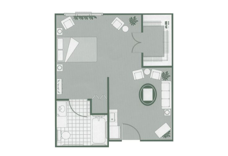 Morningside of Lancaster Assisted Living Alcove Floor Plan