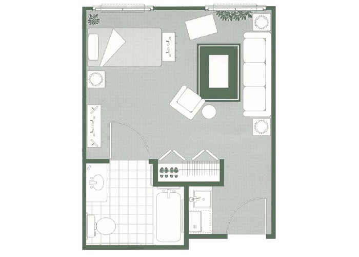 Morningside of Mayfield Assisted Living Studio Floor Plan