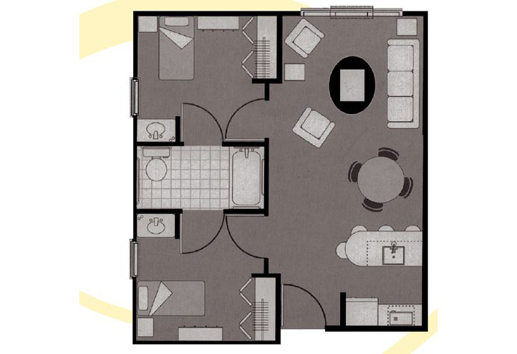 Morningside of Mayfield Assisted Living Two Bedroom Deluxe Floor Plan
