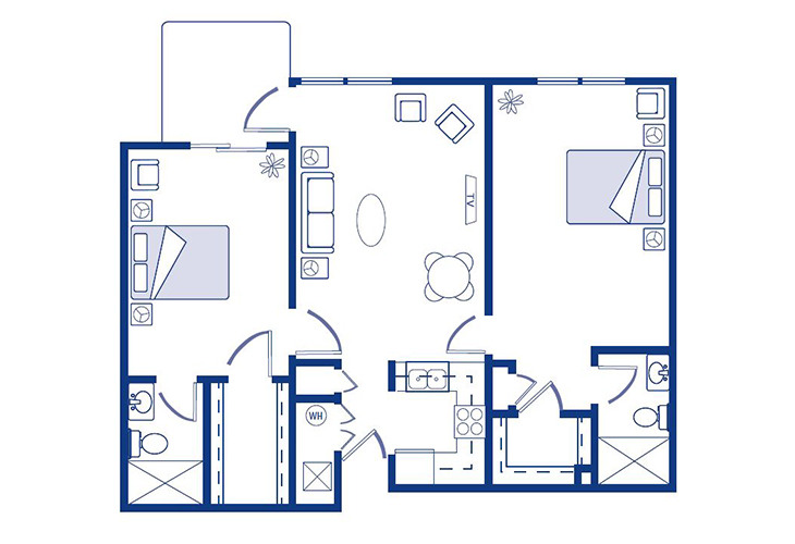 Morningside of Nevada Assisted Living Carthage Floor Plan