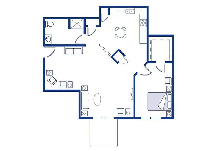 Morningside of Nevada Assisted Living Galloway Floor Plan