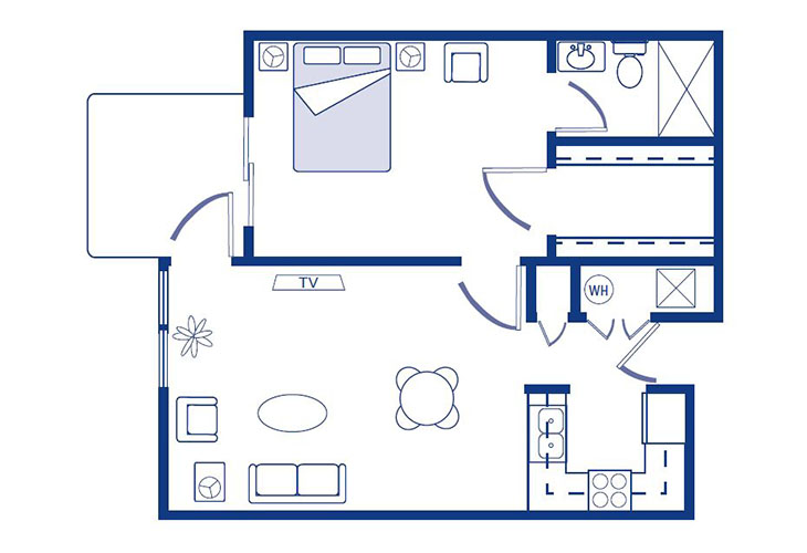 Morningside of Nevada Assisted Living Washington Floor Plan