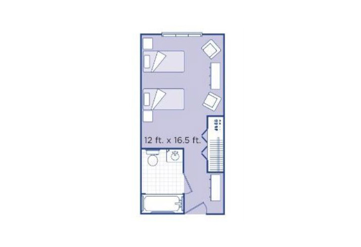 Morningside of Newport News Memory Care Companion Suite Floor Plan