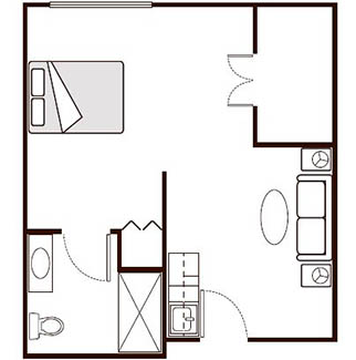 Morningside of Paris Assisted Living Alcove Floor Plan