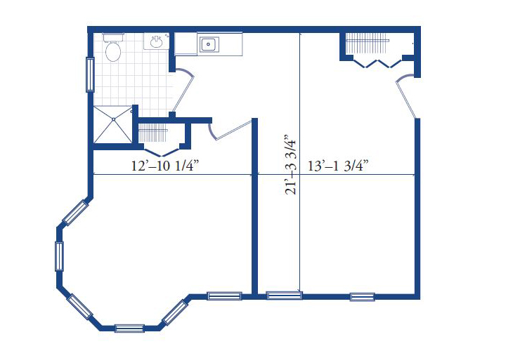 Morningside of Pekin Assisted Living One Bedroom Deluxe Floor Plan