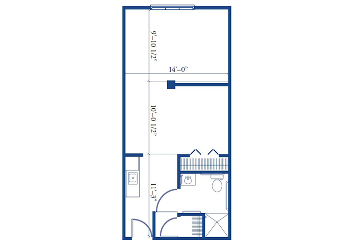 Morningside of Pekin Assisted Living Studio Deluxe Floor Plan