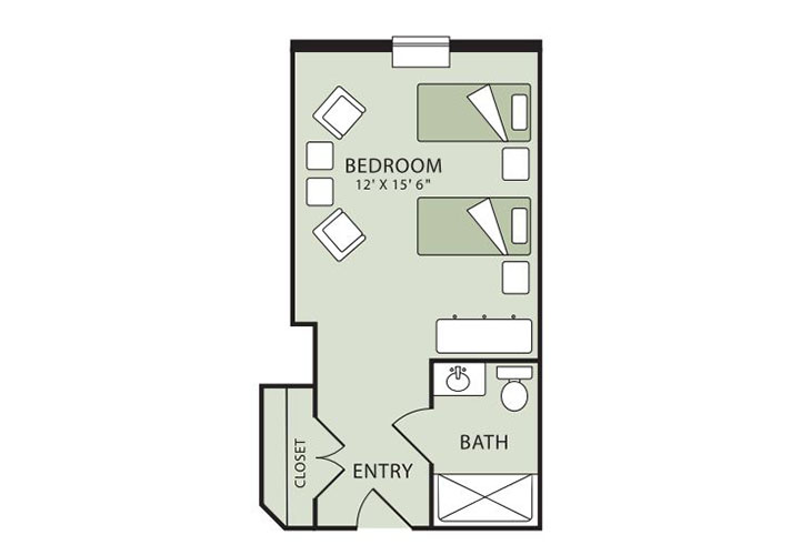 Morningside of Raleigh Assisted Living Companion Suite Floor Plan