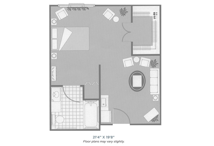 Morningside of Sheffield Assisted Living Alcove Floor Plan
