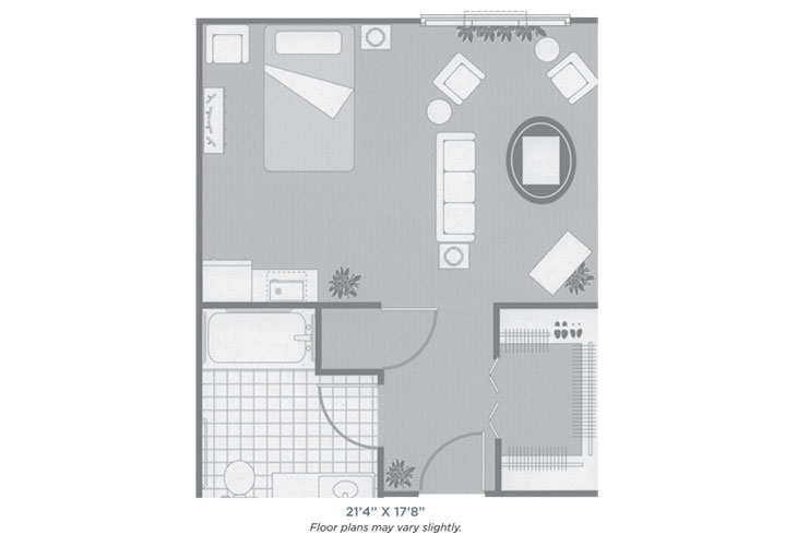 Morningside of Sheffield Assisted Living Studio Deluxe Floor Plan