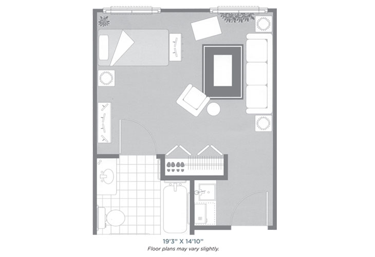 Morningside of Sheffield Assisted Living Studio Floor Plan