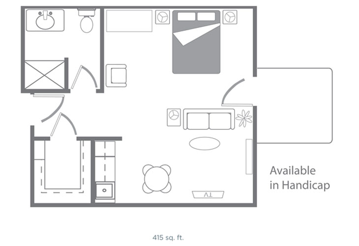 Morningside of Springdale Assisted Living Augusta Floor Plan
