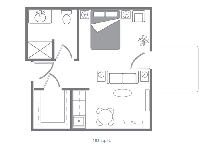 Morningside of Springdale Assisted Living Melbourne Floor Plan
