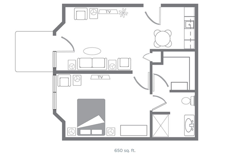 Morningside of Springdale Assisted Living Waldenburg Floor Plan