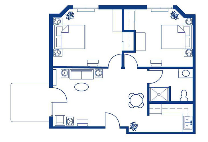 Morningside of Springfield East Assisted Living Cape Fair I Floor Plan