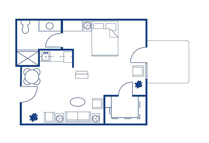 Morningside of Springfield East Assisted Living Madison Floor Plan