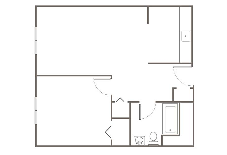 Morningside of Springfield Independent Living One Bedroom Floor Plan