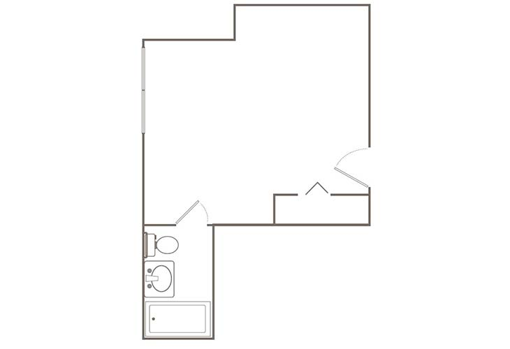 Morningside of Springfield Independent Living Premium Studio (1) Floor Plan
