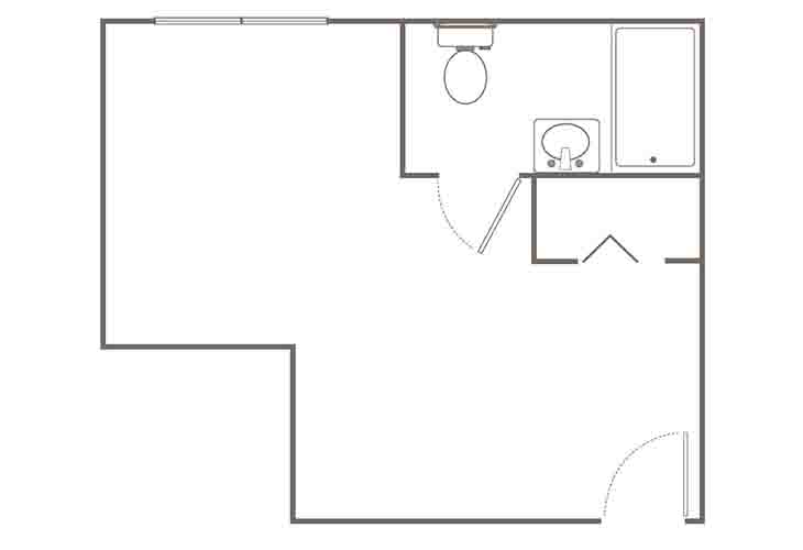 Morningside of Springfield Assisted Living Premium Studio (2) Floor Plan