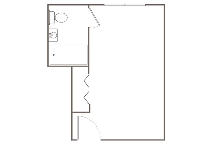 Morningside of Springfield Independent Living Premium Studio Floor Plan