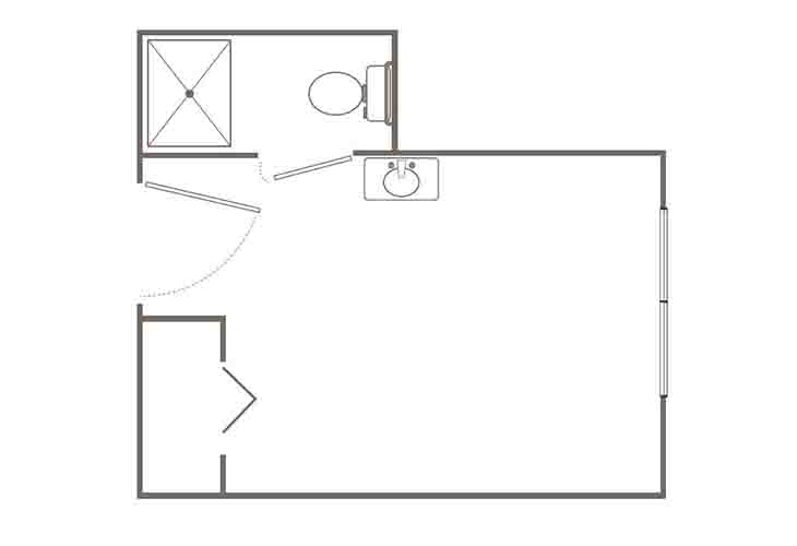 Morningside of Springfield Assisted Living Studio Floor Plan