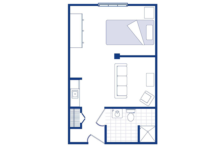 Morningside of Sterling Memory Care Studio Deluxe Floor Plan