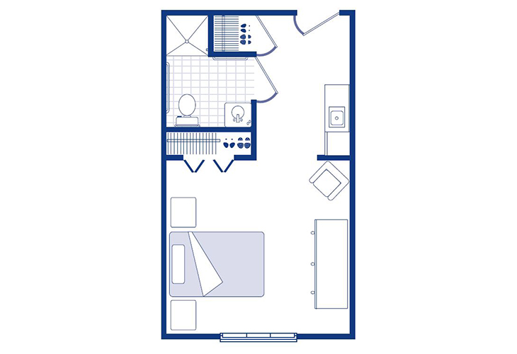 Morningside of Sterling Assisted Living Studio Floor Plan