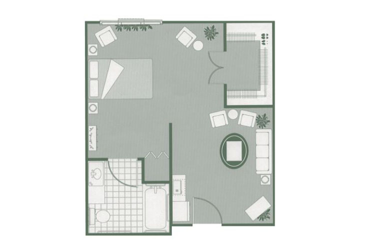 Morningside of Sumter Assisted Living Alcove Floor Plan