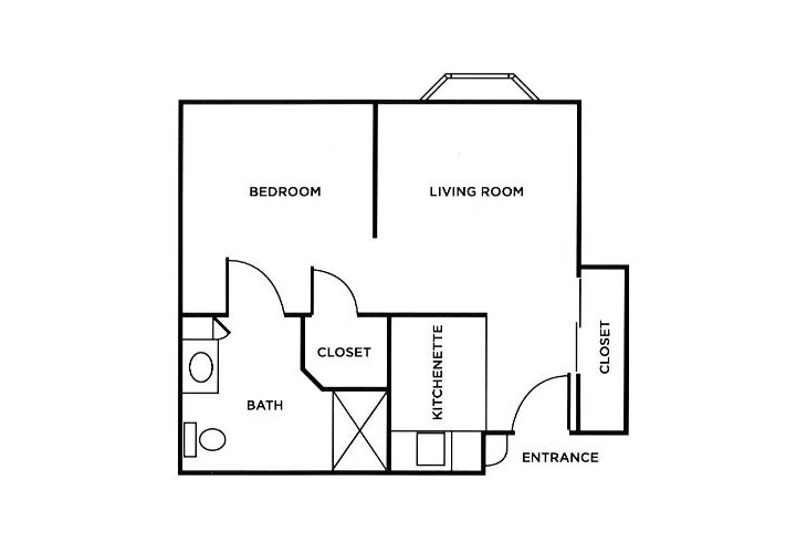 Morningside of Troy Assisted Living One Bedroom Floor Plan