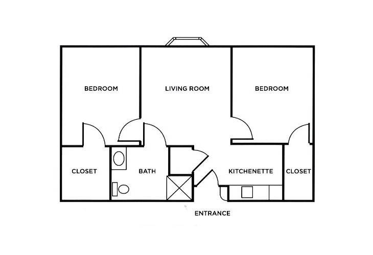 Morningside of Troy Assisted Living Two Bedroom Floor Plan