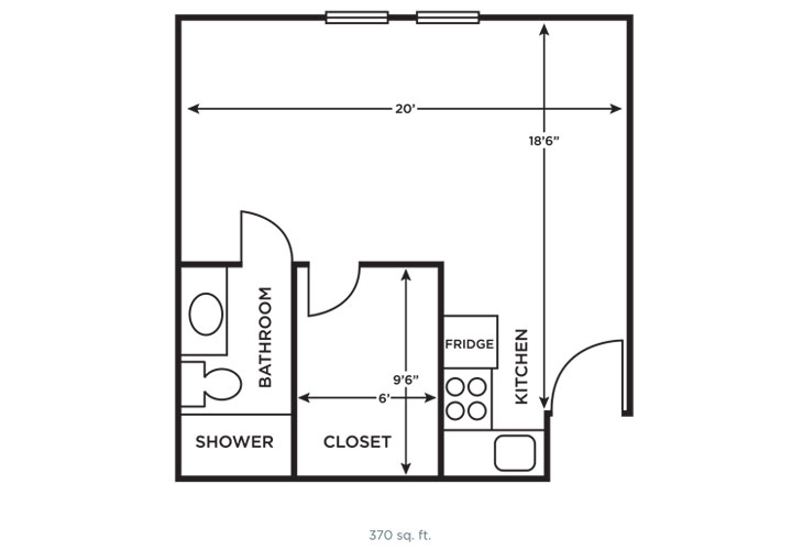 Morningside of Vestavia Hills Independent Living Large Studio (1) Floor Plan