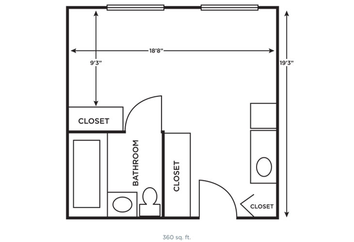 Morningside of Vestavia Hills Memory Care Large Studio Floor Plan