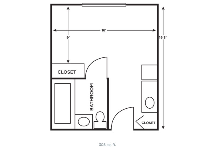 Morningside of Vestavia Hills Independent Living Small Studio Floor Plan