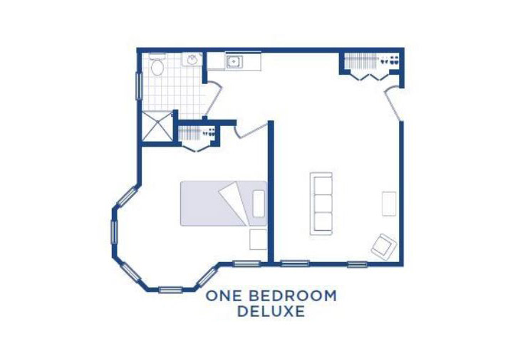 Morningside of Washington Assisted Living One Bedroom Deluxe (1) Floor Plan