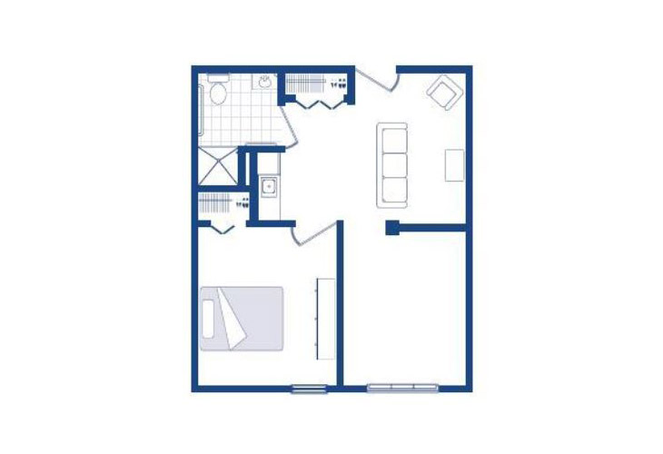 Morningside of Washington Assisted Living One Bedroom Floor Plan