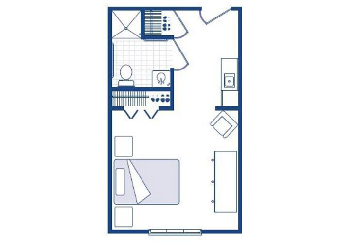 Morningside of Washington Assisted Living Studio Floor Plan