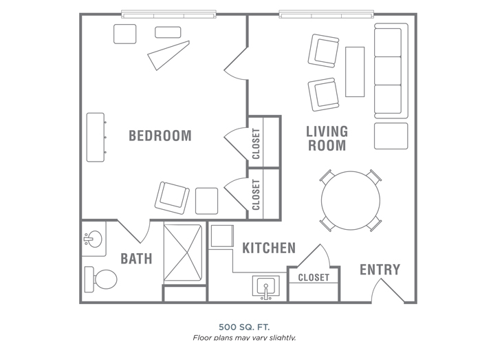 Morningside of Wilmington Assisted Living One Bedroom Floor Plan