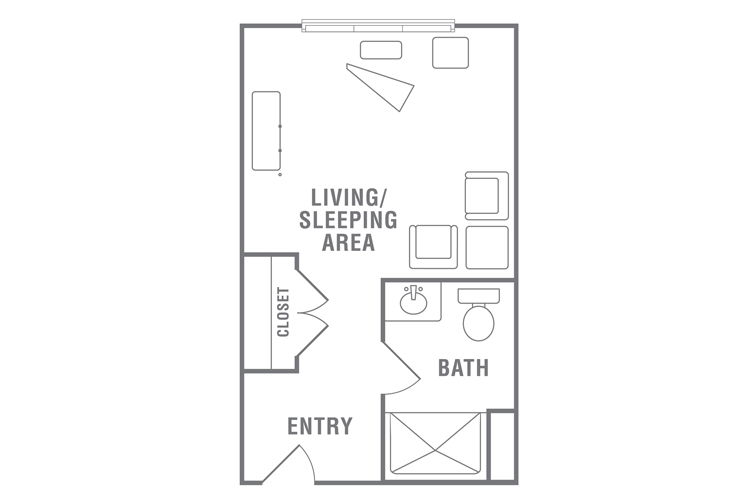 Morningside of Wilmington Assisted Living Studio Floor Plan